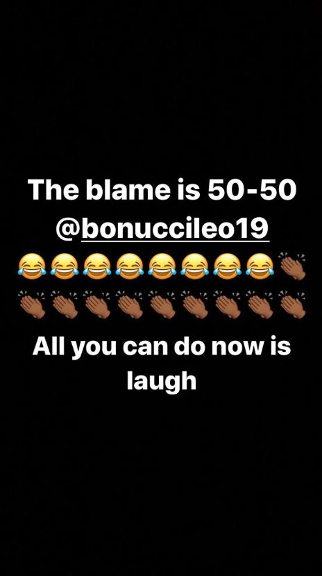Sterling reacts to Bonucci