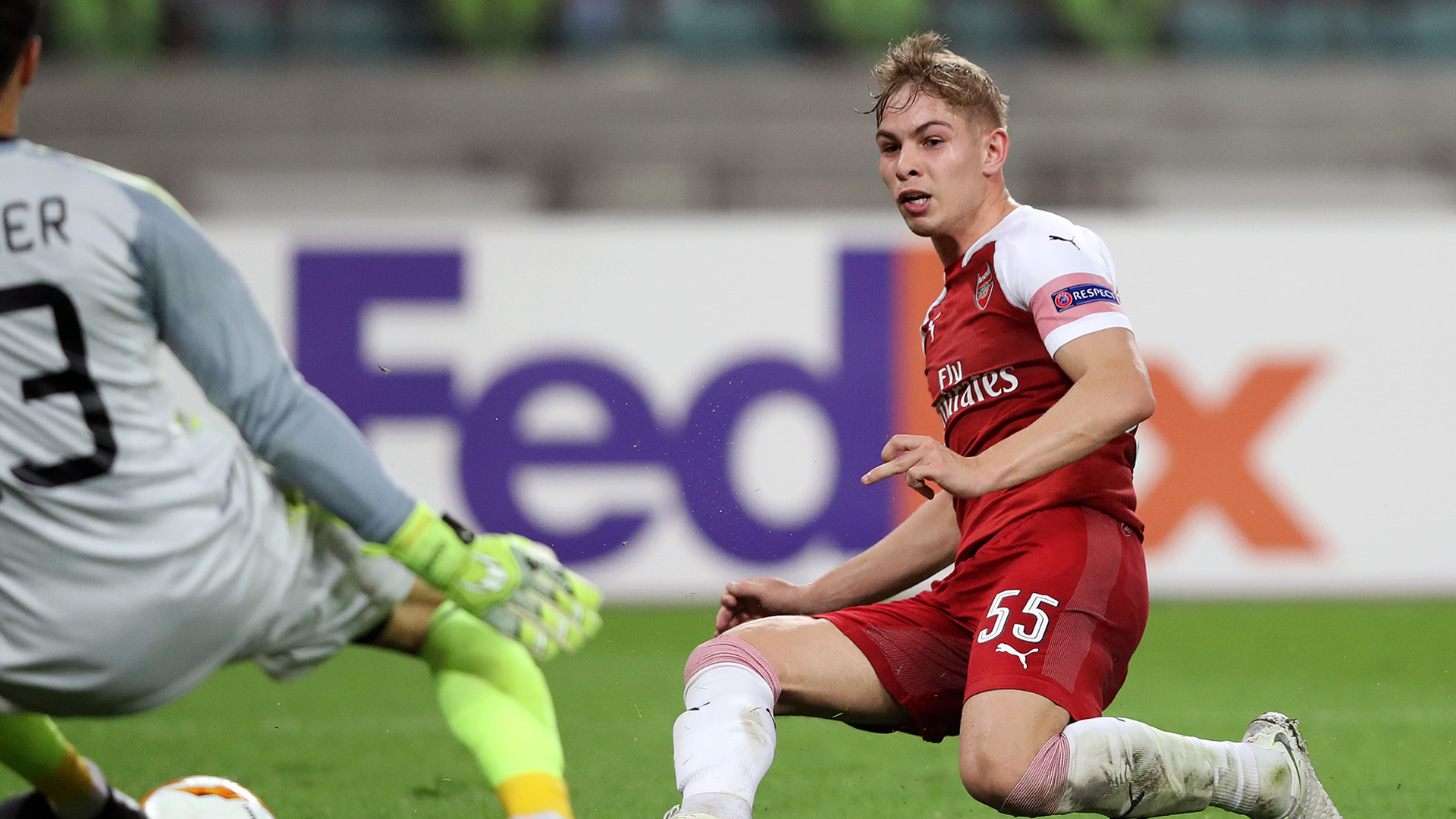 Emile Smith-Rowe nets as Arsenal east past Qarabag in Europa League