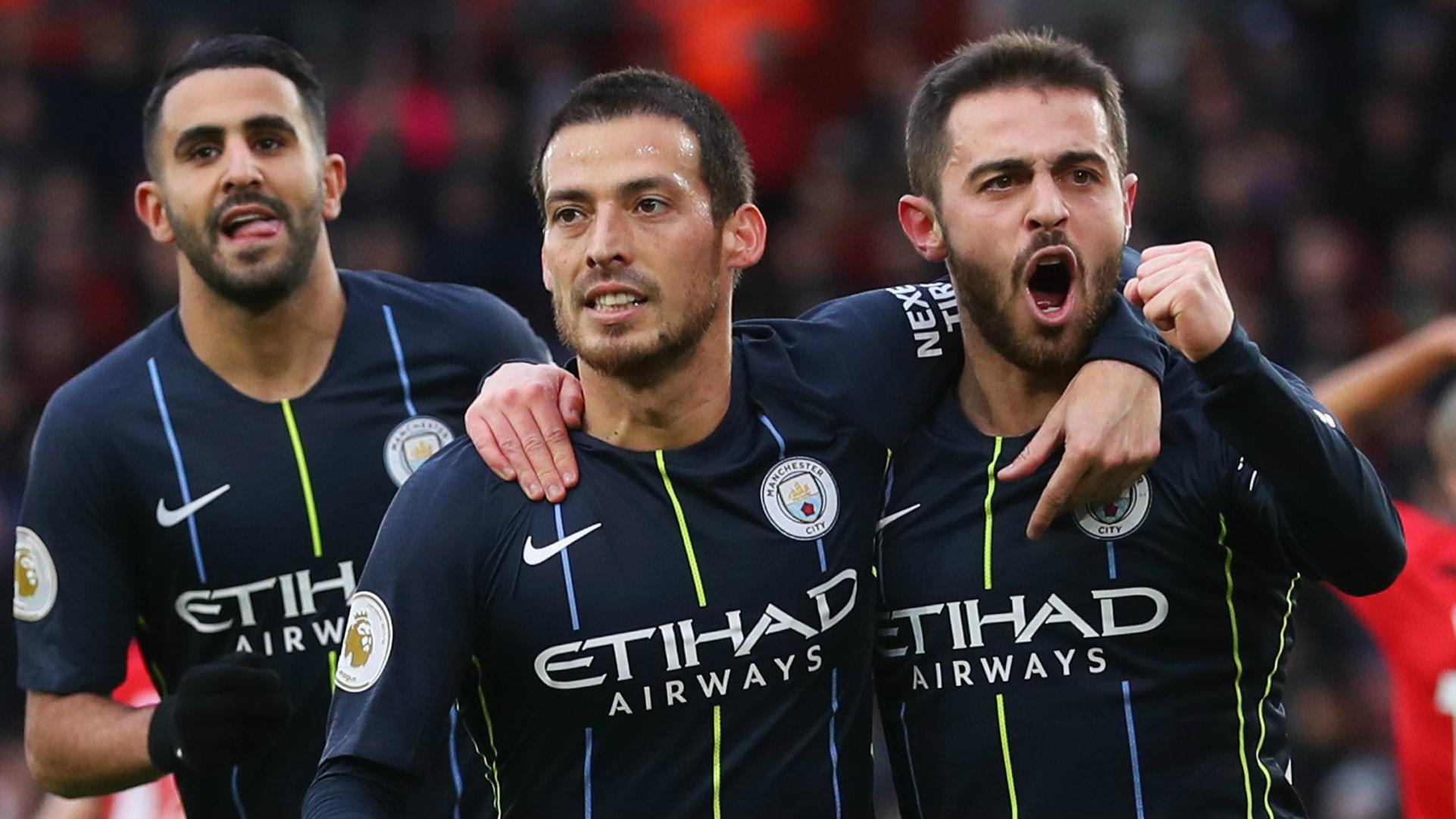 David Silva Bernardo Silva Southampton vs Manchester City Premier League 2018-19