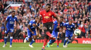 Paul Pogba Manchester United Leicester