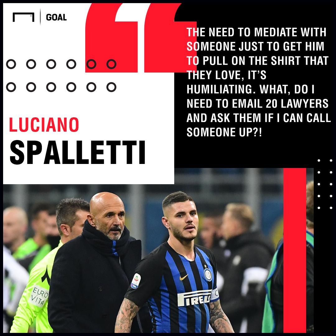 Luciano Spalletti Icardi Inter PS