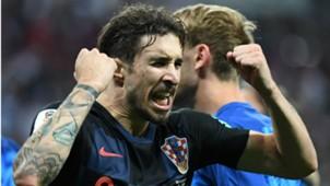 croatia england - sime vrsaljko celebration - world cup - 11072018