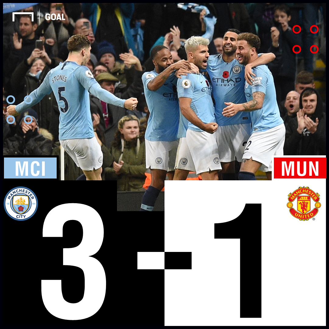 FT: Manchester City 3-1 Manchester United