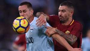 Aleksandar Kolarov Adam Marusic Roma Lazio