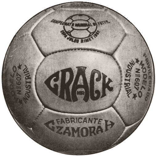Crack 1962 World Cup ball
