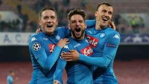 Napoli celebrating Champions League