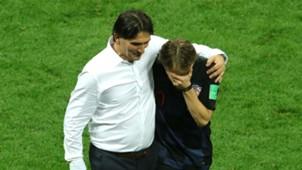 croatia england - zlatko dalic luka modrci celebration - world cup - 11072018