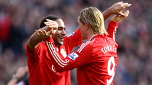 Fernando Torres Glen Johnson Liverpool Premier League
