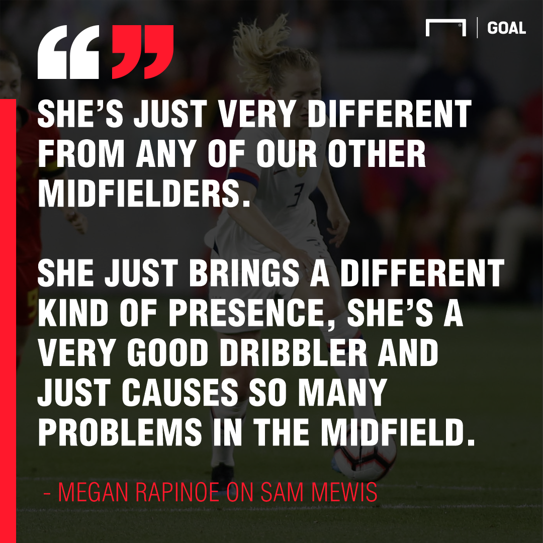 Rapinoe on Mewis PS