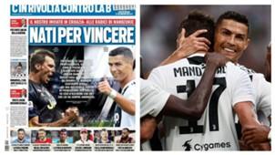 Mandzukic Juventus Tuttosport collage