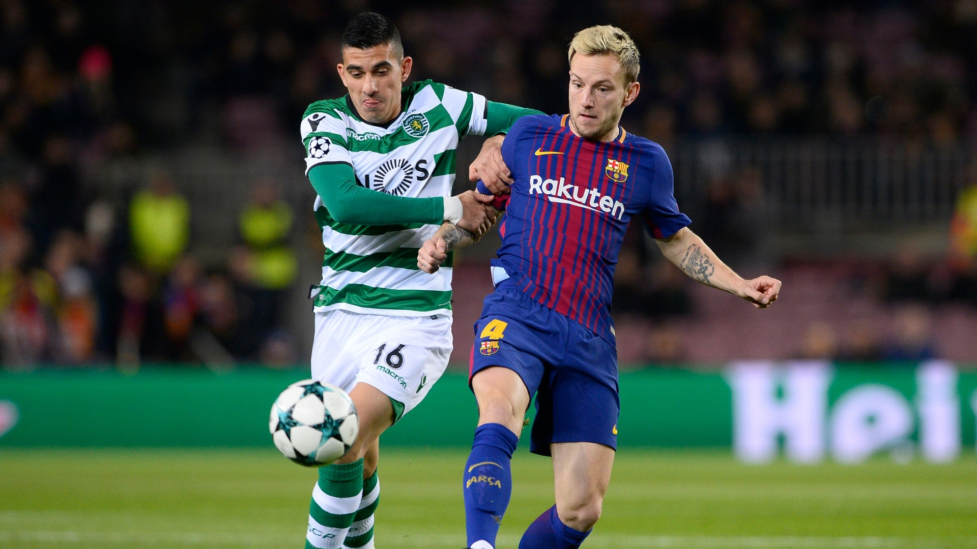 Ivan Rakitic, Rodrigo Battaglia, Barcelona vs Sporting