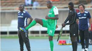Zedekiah Otieno and Dennis Oliech of Gor Mahia.