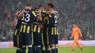 Fenerbahce goal celebration vs Bursaspor