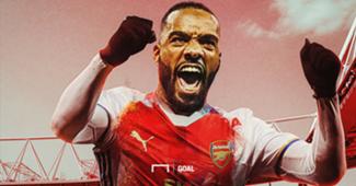 Lacazette Lyon Arsenal graphique montage GFX