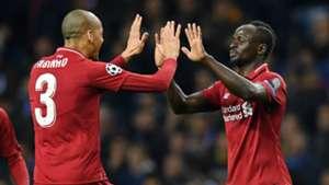 Fabinho Sadio Mane Liverpool 2018-19