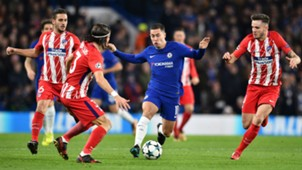 Hazard Filipe Luis Saul Chelsea Atletico Madrid Champions League