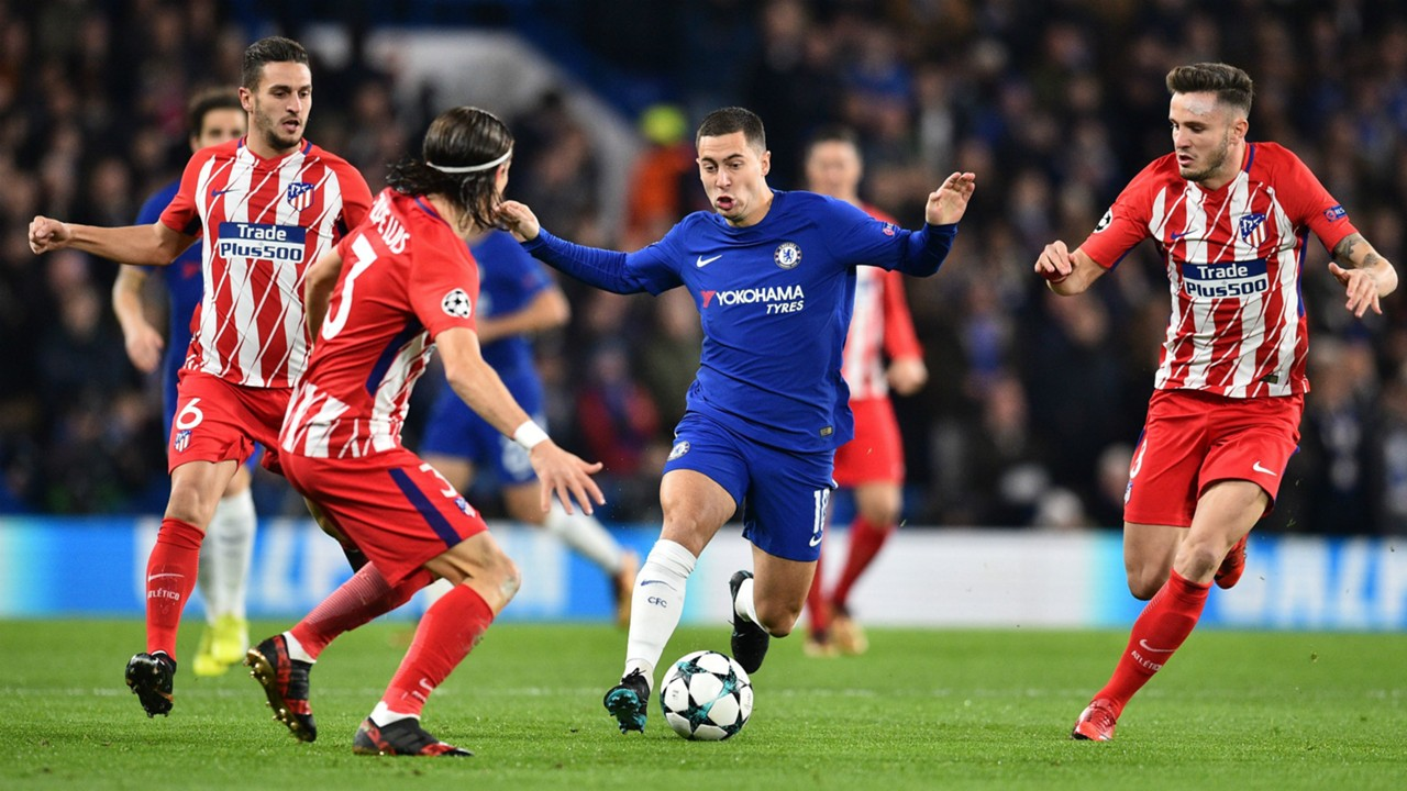 Hazard Filipe Luis Saul Chelsea Atletico Madrid Champions League