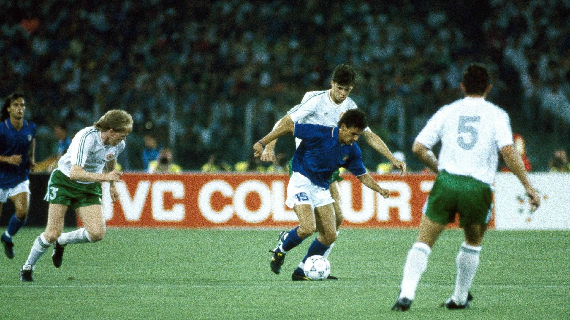 Roberto Baggio Italy v Ireland World Cup 1990