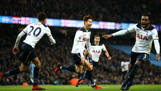 Son Heung-min Premier League Manchester City v Tottenham