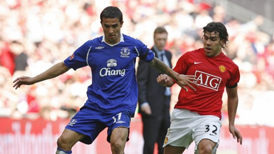 Tim Cahill Everton Manchester United