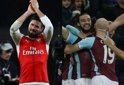 Olivier Giroud Andy Carroll Collage
