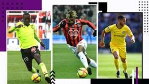 GFX Most succesfull dribblings Pepe Saint-Maximin Hazard