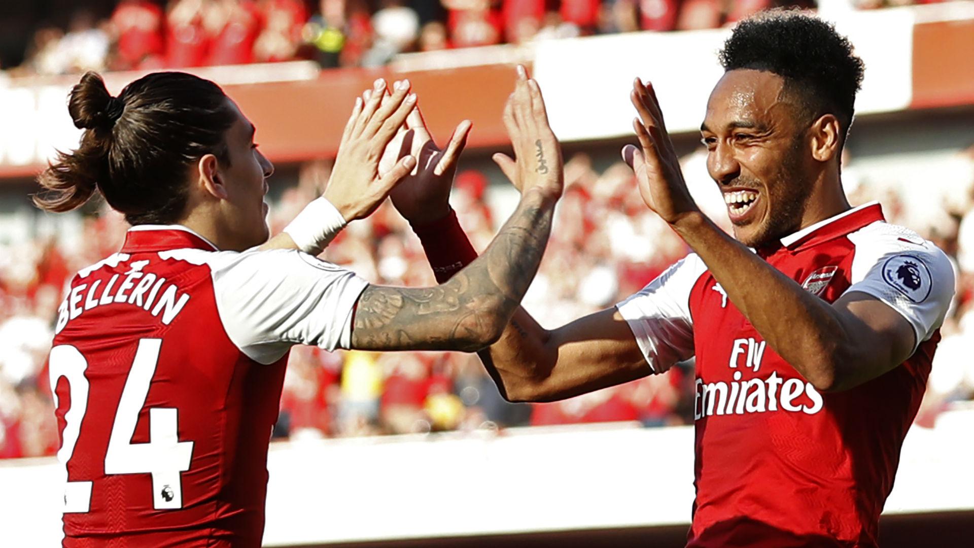 Hector Bellerin Pierre Emerick Aubameyang Arsenal