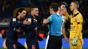 Edinson Cavani Marco Verratti PSG Guingamp