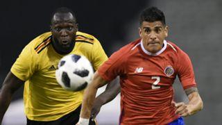 Johnny Acosta Romelu Lukaku Costa Rica Belgium 2018