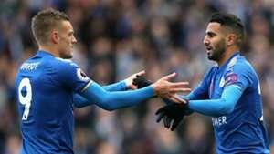 Jamie Vardy Riyad Mahrez Leicester City