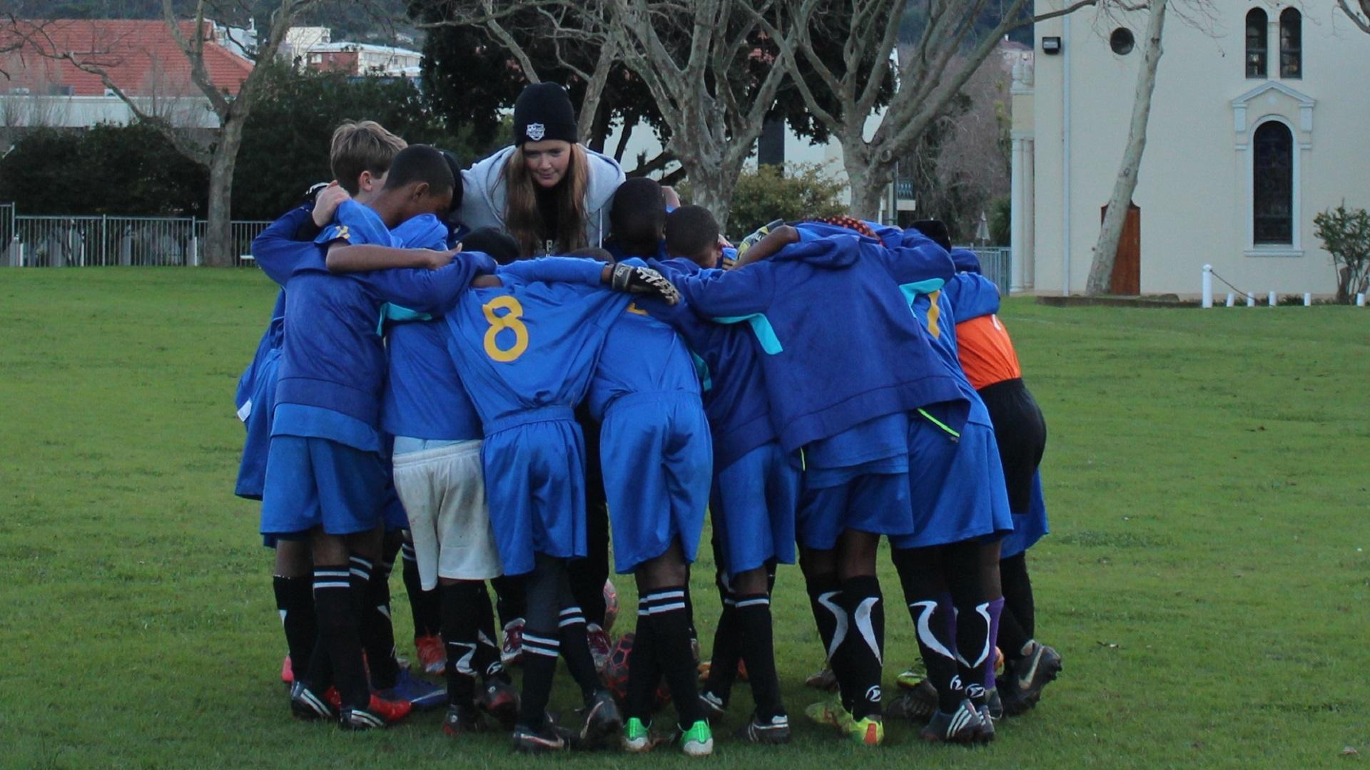 Intern Sabrina Kreuter Young Bafana