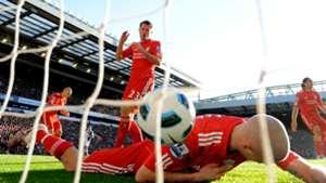 Own goal Jamie Carrager Martin Skrtel Liverpool