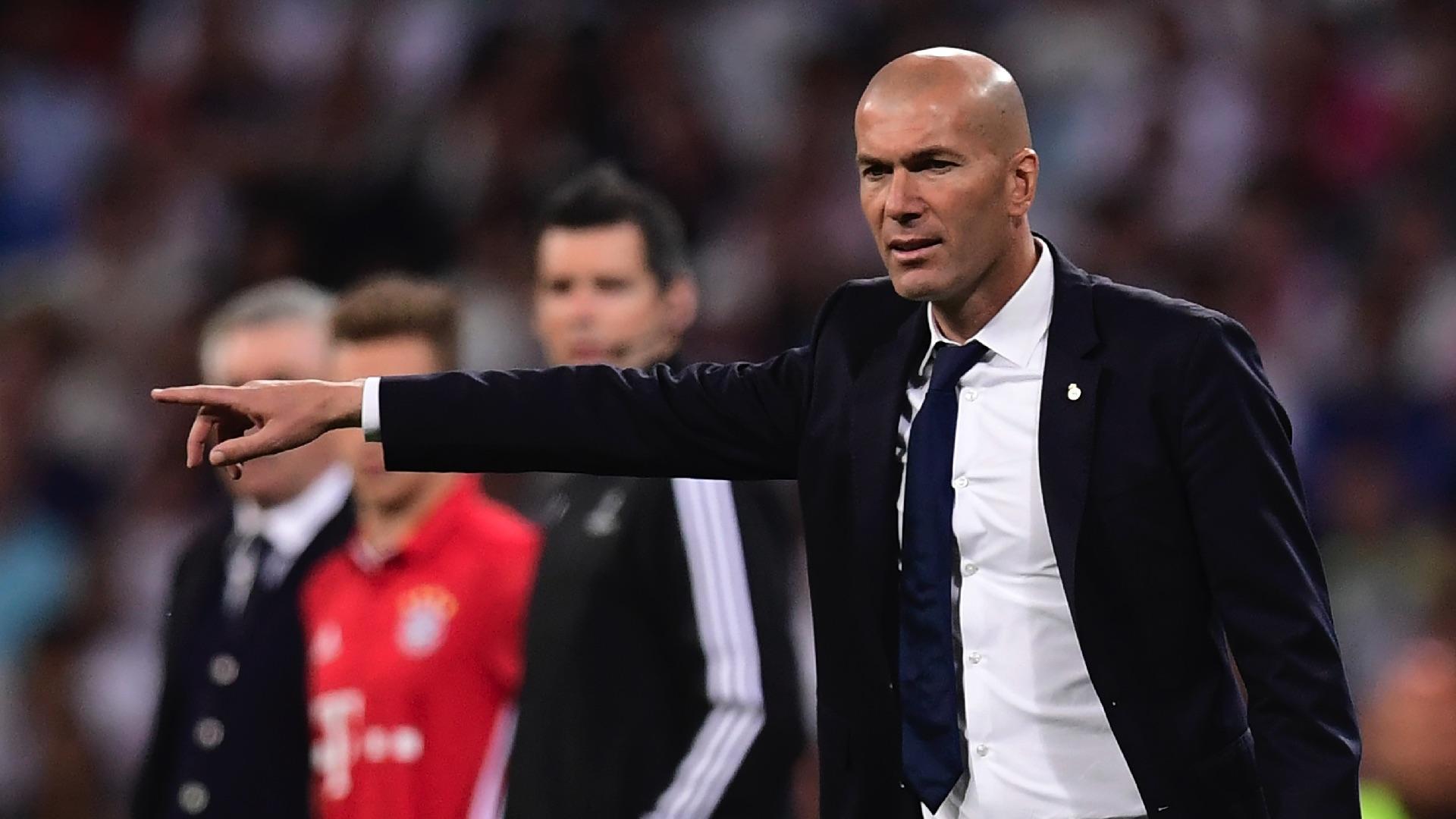 Zinedine Zidane Real Madrid Bayern Munich UCL 18042017