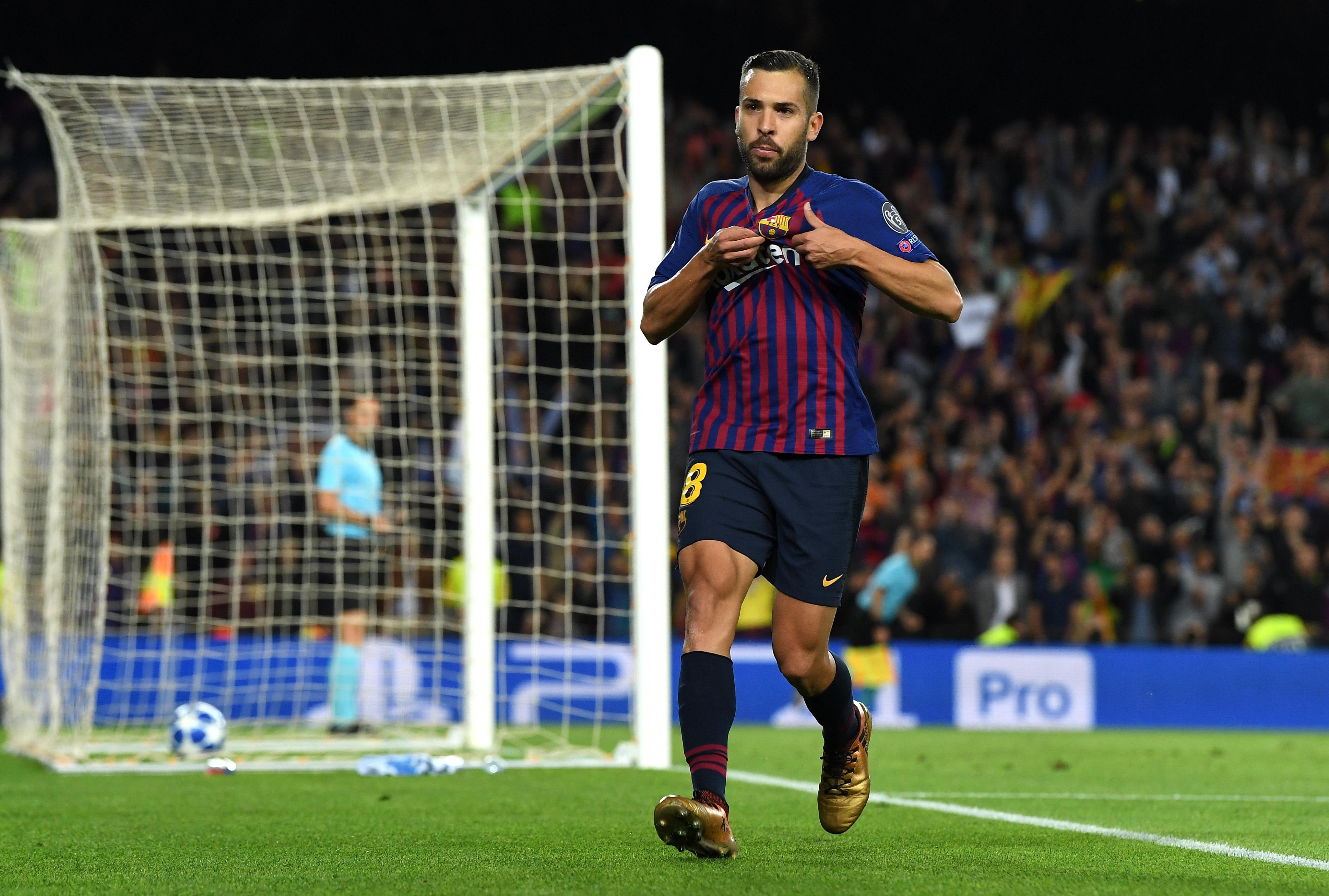 Jordi Alba Barcelona Inter Champions League