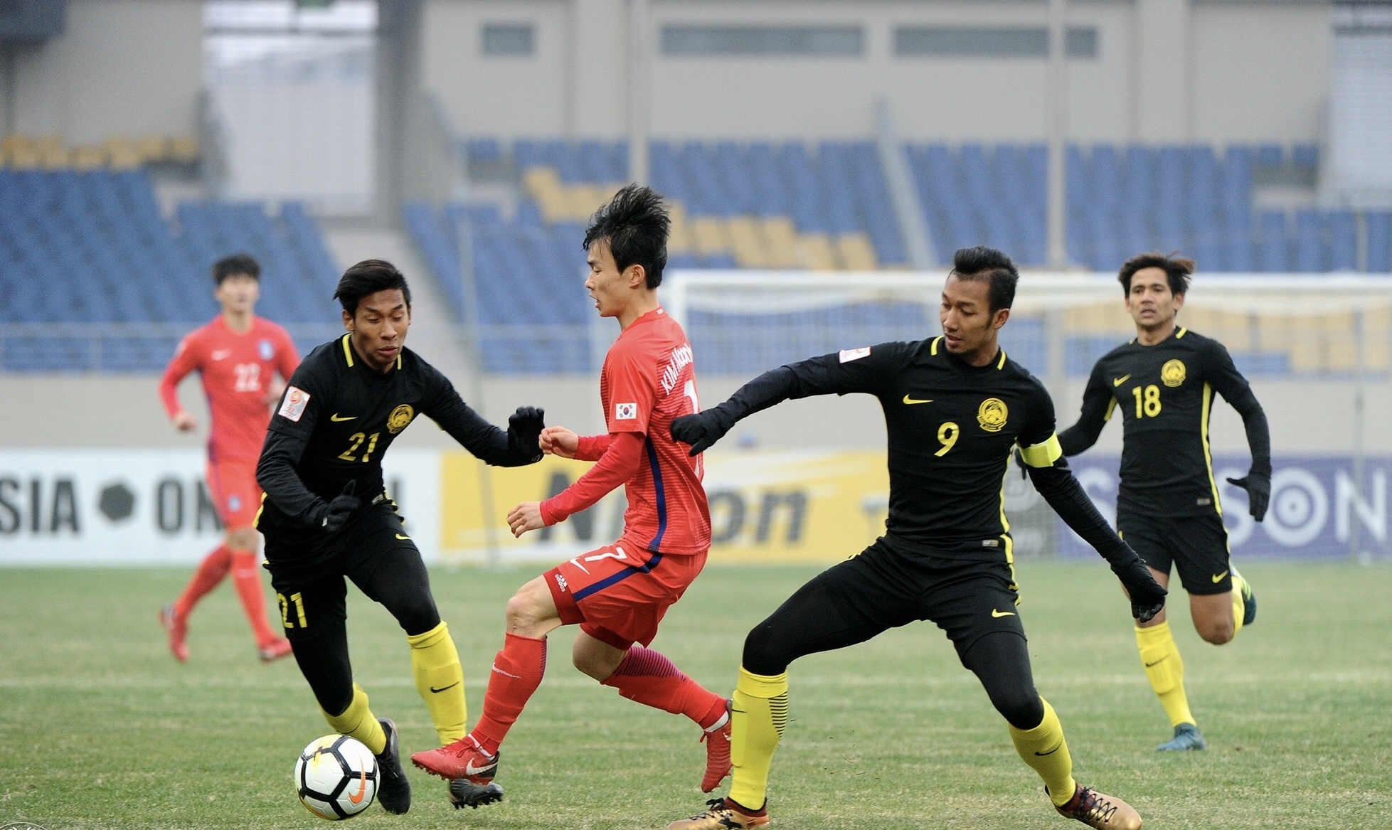 Asian Games (soccer) - Malaysia beat South Korea 2-1