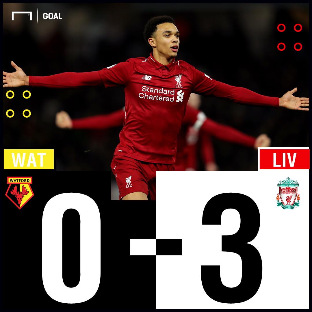 Watford Liverpool Scoreline PS