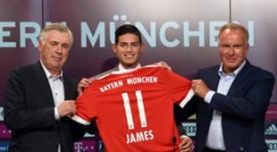 James Rodriguez Bayern München Karl Heinz Rummenigge Carlo Ancelotti
