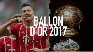Robert Lewandowski Ballon d'Or 2017
