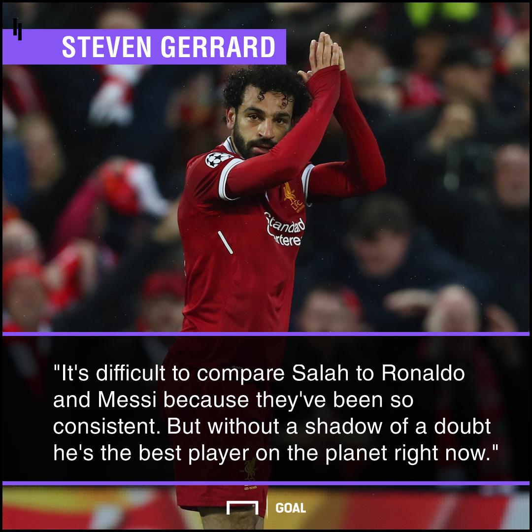 Mohamed Salah Steven Gerrard PS