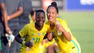 Thembi Kgatlana and Leandra Smeda of South Africa, Banyana Banyana