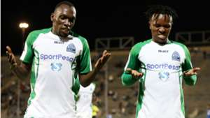 Gor Mahia striker Meddie Kagere and Francis Kahata.