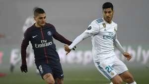 Marco Verratti Marco Asensio PSG Paris Saint-Germain Real Madrid