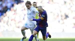 Andres Iniesta Luka Modric Barcelona Real Madrid