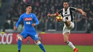 Leonardo Bonucci Arkadiusz Milik Juventus Napoli Coppa Italia