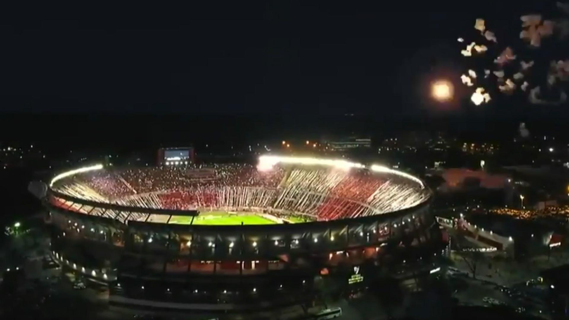Captura Estadio Monumental River Independiente Copa Libertadores 02102018