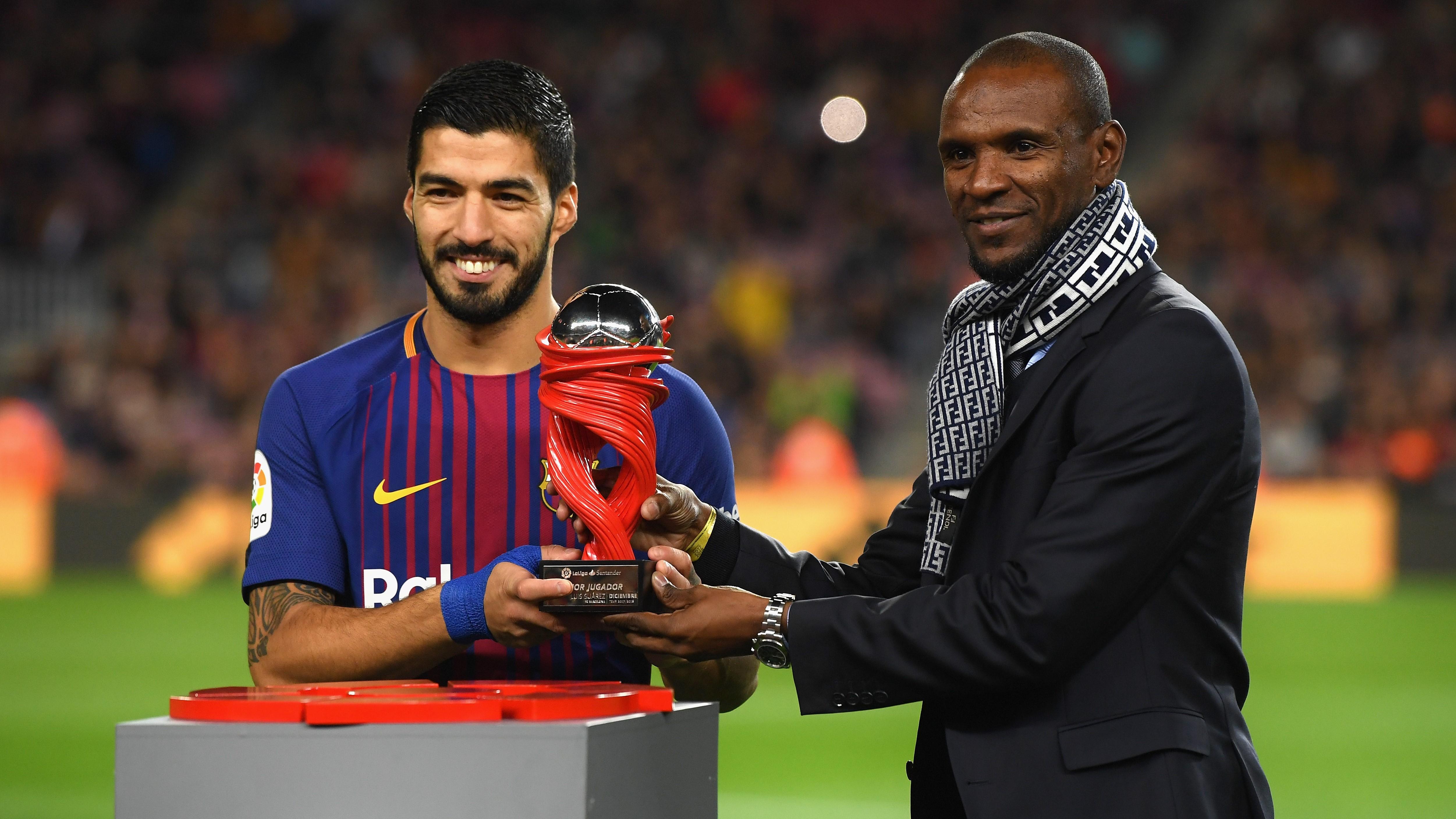 Luis Suarez Eric Abidal Barcelona Alaves LaLiga 28012018