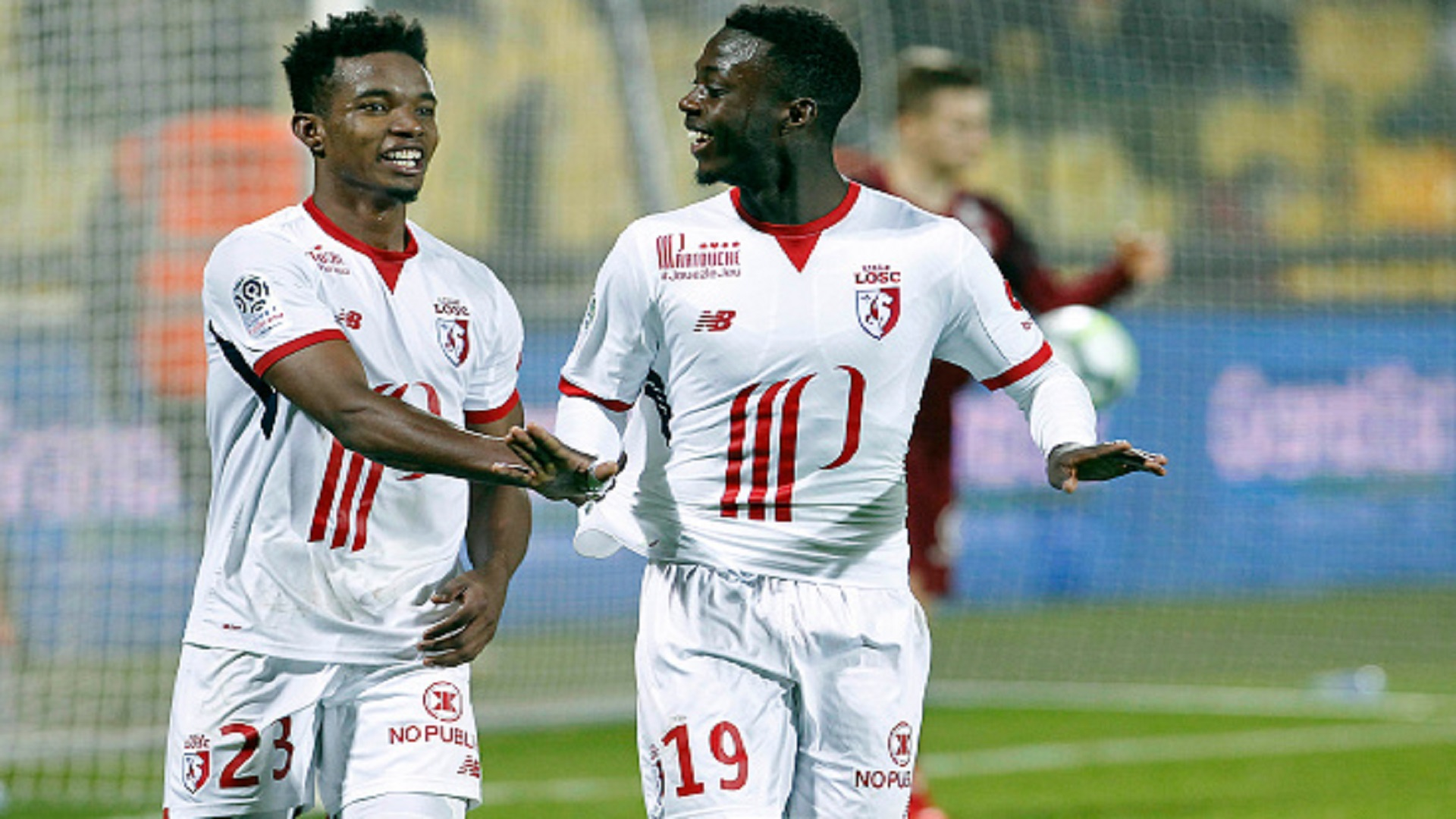 Nicolas Pepe and Thiago Mendes of Lille