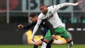 Danilo D'Ambrosio Kevin Prince Boateng Inter Sassuolo Serie A