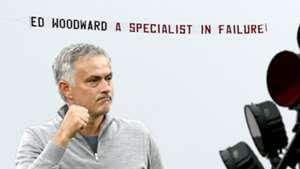 Mourinho, Woodward banner
