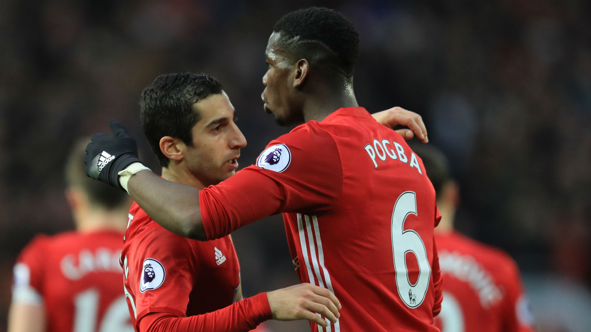 Henrikh Mkhitaryan Paul Pogba Manchester United